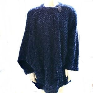 MISSONI Dolman Sleeve Asymmetric Button Topper